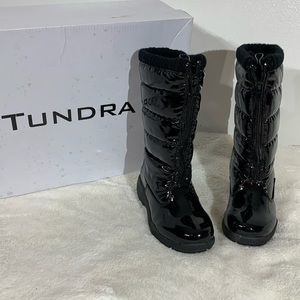 Tundra Puffy Waterproof Black Winter Boots - 11